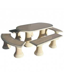 Cast Stone Table Set