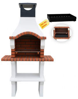 VENETO MASONRY BARBECUE GRIL BBQ IN GREY