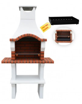 VENETO MASONRY BBQ GRILL BARBECUE IN WHITE